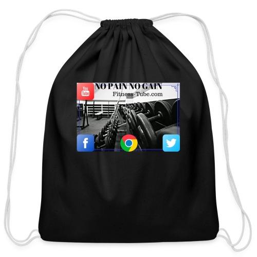 gym no pain no gain 1 - Cotton Drawstring Bag