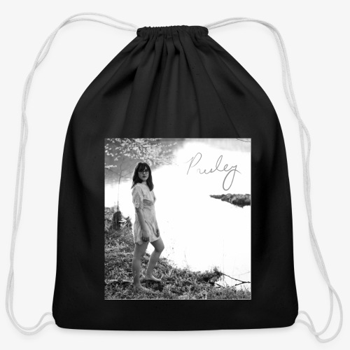 Black and White Signature - Cotton Drawstring Bag