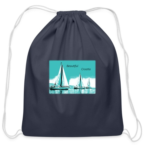 Beautiful Croatia - Cotton Drawstring Bag
