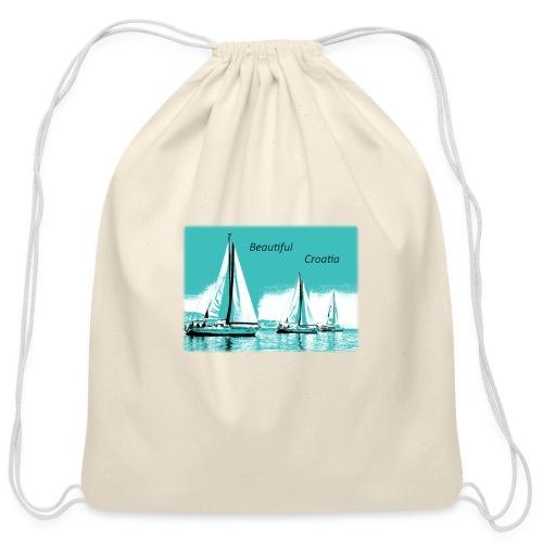 Beautiful Croatia - Cotton Drawstring Bag