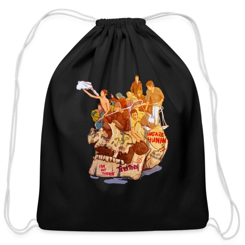 Skull & Refugees - Cotton Drawstring Bag