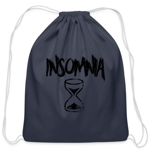 Insomnia Abstract Design - Cotton Drawstring Bag