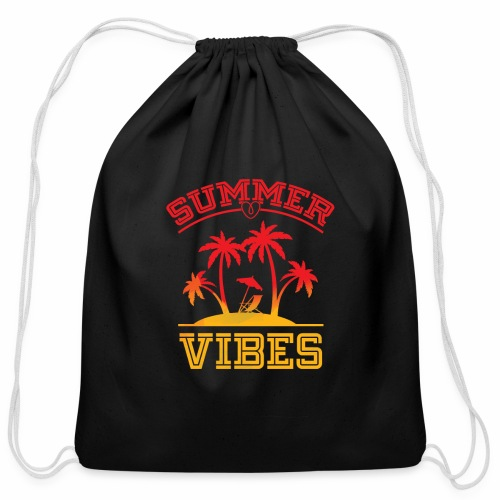 Summer Vibes - Cotton Drawstring Bag