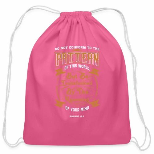 Bible Pattern - Cotton Drawstring Bag