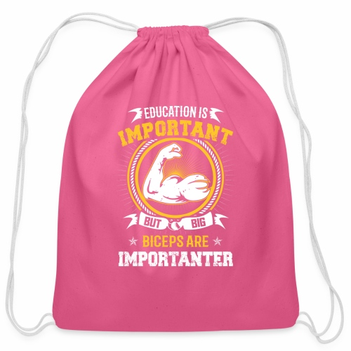 Workout is Important - Cotton Drawstring Bag