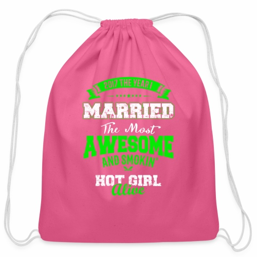 Married Husband - Cotton Drawstring Bag