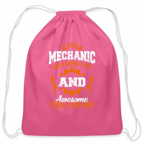 Mechanic girlfriend - Cotton Drawstring Bag