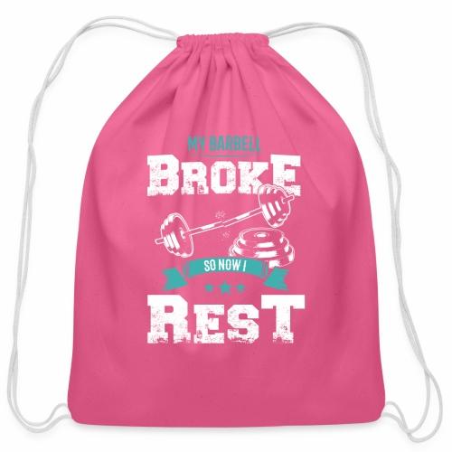 Workout Resting Time - Cotton Drawstring Bag