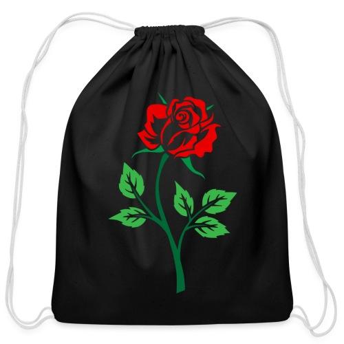 Red Rose - Cotton Drawstring Bag