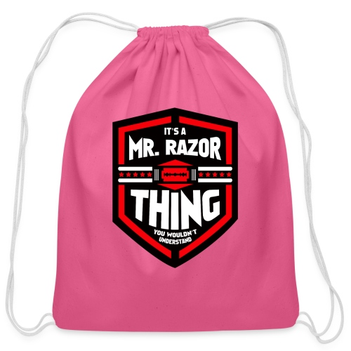 It's a Mr Razor Thing Trini - Cotton Drawstring Bag