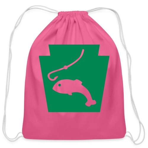 Pennsylvania Fishing Keystone PA - Cotton Drawstring Bag