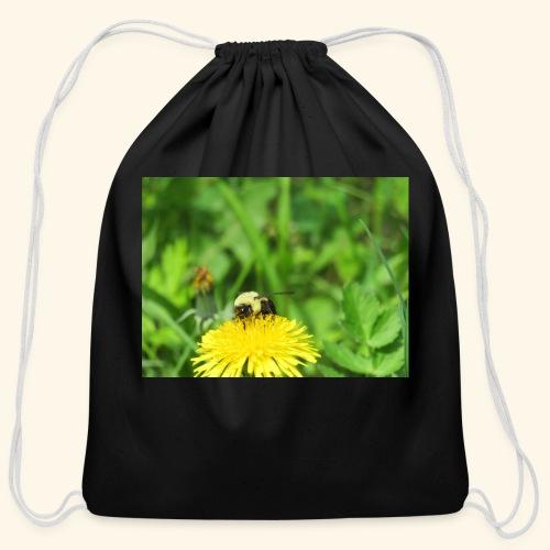 Dandelion Bee - Cotton Drawstring Bag