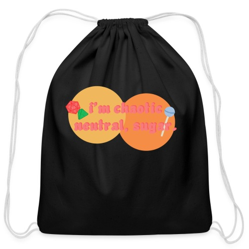 Chaotic Neutral - Cotton Drawstring Bag