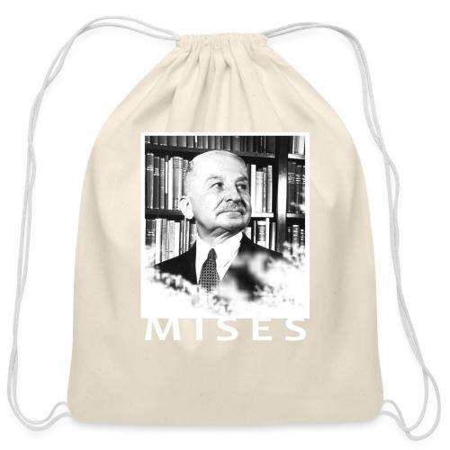 Ludwig von Mises Libertarian Design - Cotton Drawstring Bag