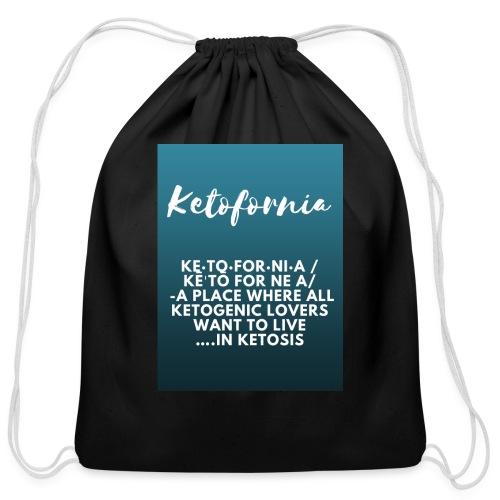Ketofornia - Cotton Drawstring Bag