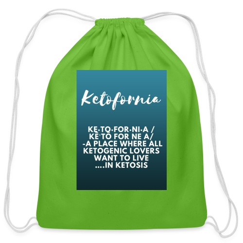 Ketofornia - Cotton Drawstring Bag