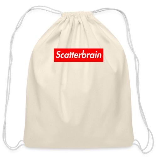 scatterbrain logo - Cotton Drawstring Bag