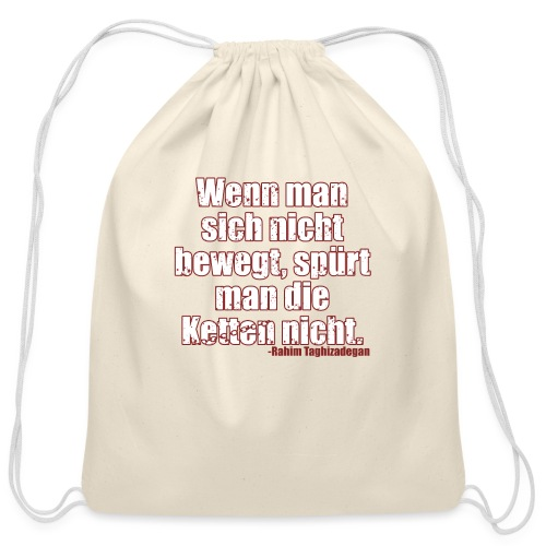 Chains Libertarian Quote Rahim Taghizadegan - Cotton Drawstring Bag