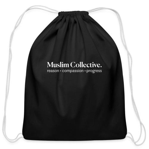 Muslim Collective Logo + tagline - Cotton Drawstring Bag