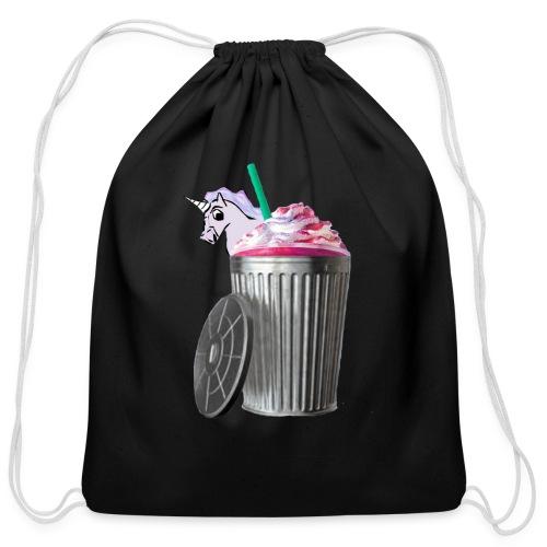 trash brigade unicorn - Cotton Drawstring Bag