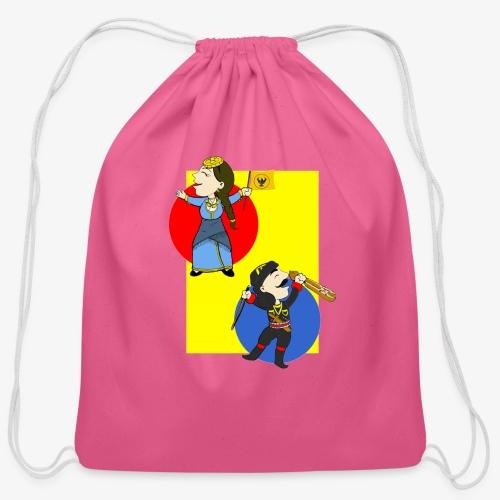 Cartoon - Pontios/lyra & Pontia/flag - Cotton Drawstring Bag