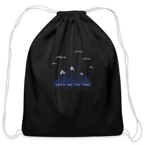 Adventure Mountains T-shirts and Products - Cotton Drawstring Bag