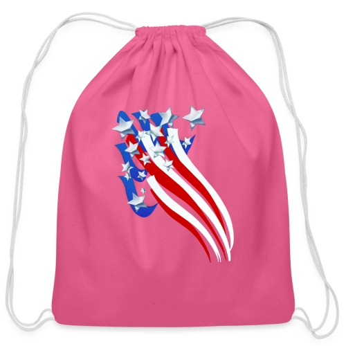 Sweeping Old Glory - Cotton Drawstring Bag