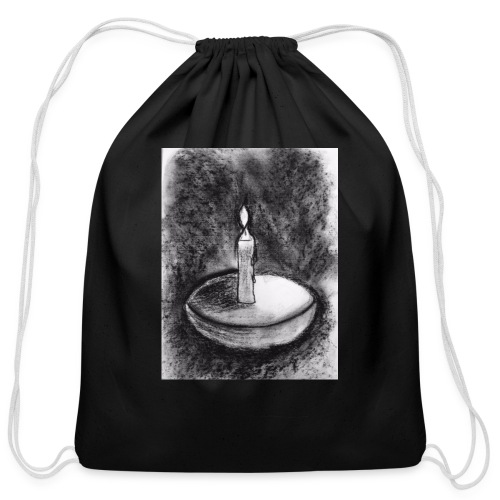 Candle light - Cotton Drawstring Bag