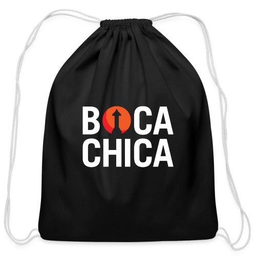 Boca Chica Starship Mars Silhouette - Cotton Drawstring Bag