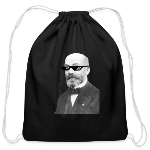 Zamenhof Shades (BW) - Cotton Drawstring Bag