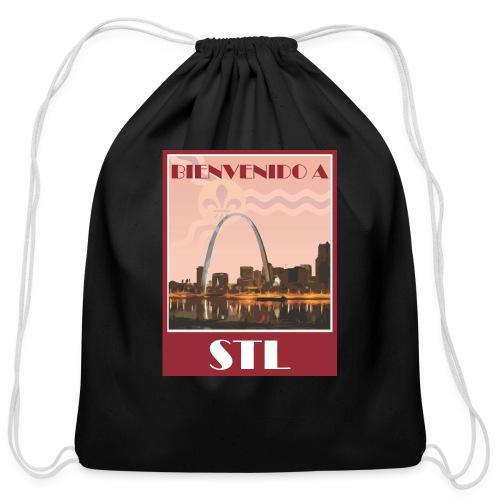Bienvenido STL Skyline - Cotton Drawstring Bag