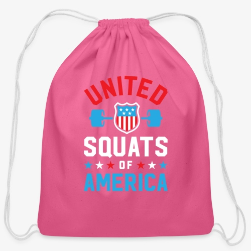 United Squats Of America v2 - Cotton Drawstring Bag