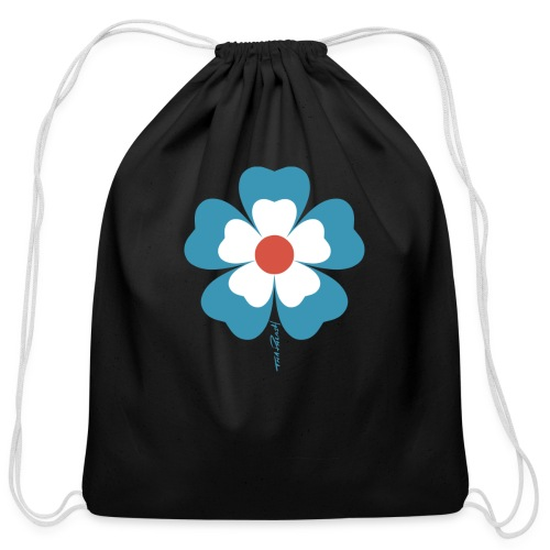 flower time - Cotton Drawstring Bag