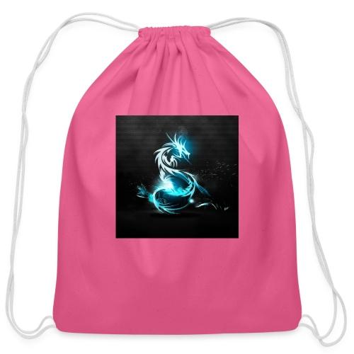 dragon light - Cotton Drawstring Bag