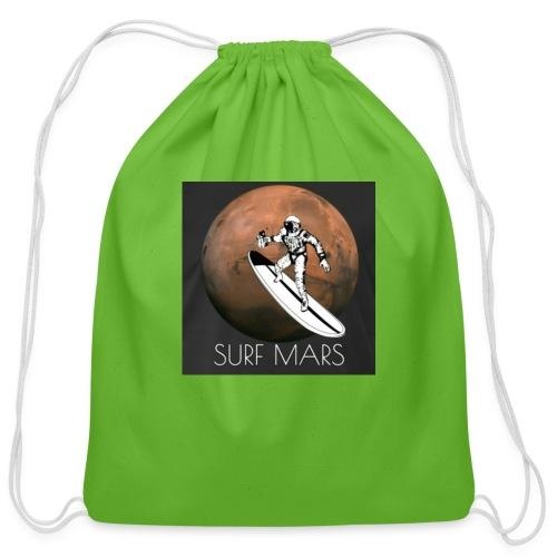 space surfer - Cotton Drawstring Bag