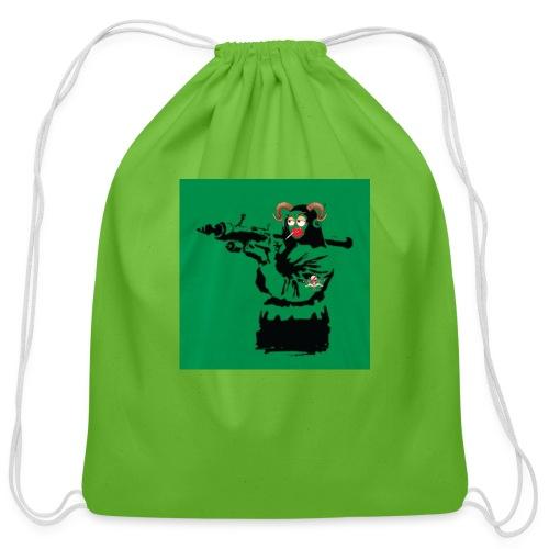 Baskey mona lisa - Cotton Drawstring Bag