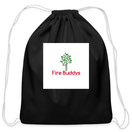 Fire Buddys Website Logo White Tee-shirt eco - Cotton Drawstring Bag