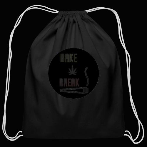 Bake Break Logo Cutout - Cotton Drawstring Bag