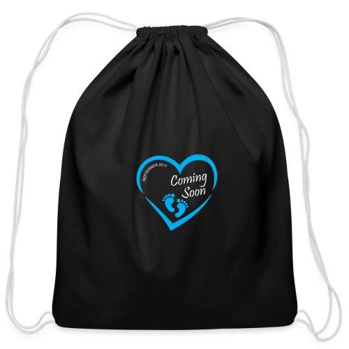 Baby coming soon - Cotton Drawstring Bag