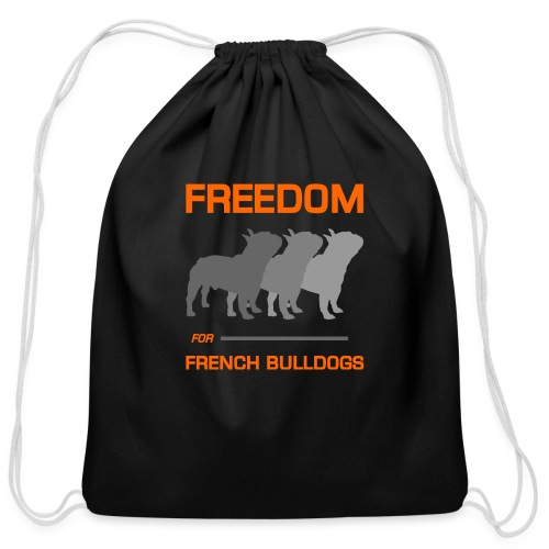 French Bulldogs - Cotton Drawstring Bag