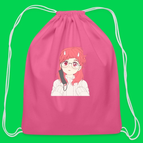 Mei is cute - Cotton Drawstring Bag