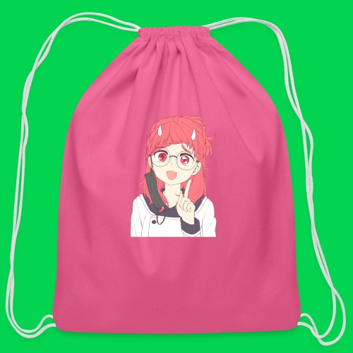 Mei is a little confused - Cotton Drawstring Bag
