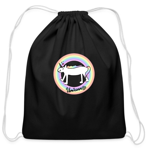 Unicorn Love - Cotton Drawstring Bag