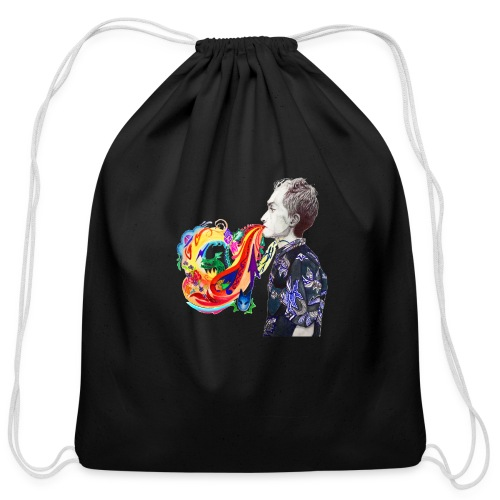 Breathe Cover Art - Cotton Drawstring Bag