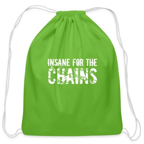 Insane for the Chains White Print - Cotton Drawstring Bag