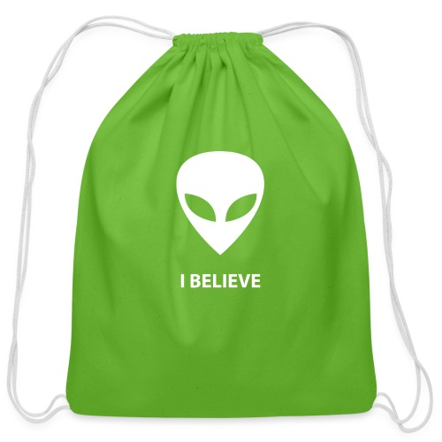 I BELIEVE ALIEN - Cotton Drawstring Bag