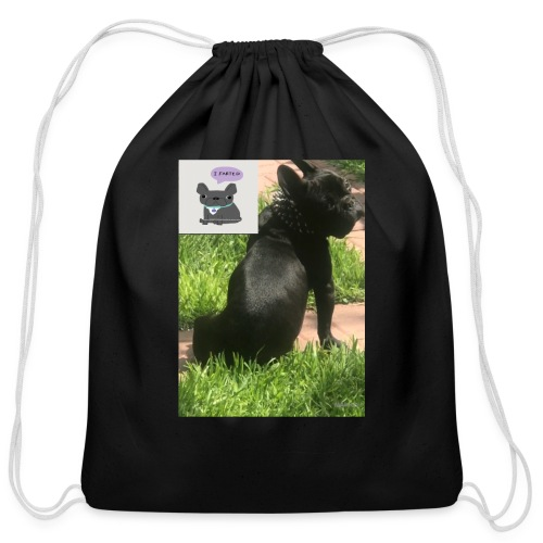 french bulldog - Cotton Drawstring Bag