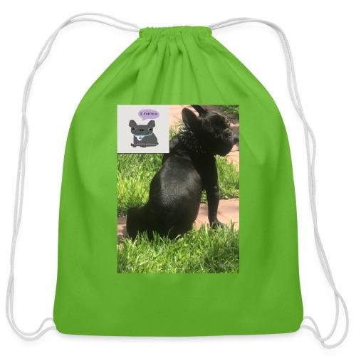 french bulldog - Cotton Drawstring Bag