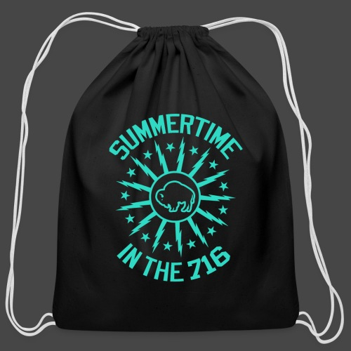 Summertime in the 716 - Cotton Drawstring Bag