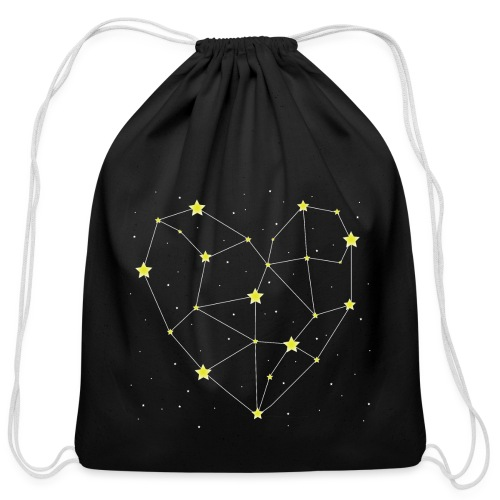 Heart in the Stars - Cotton Drawstring Bag